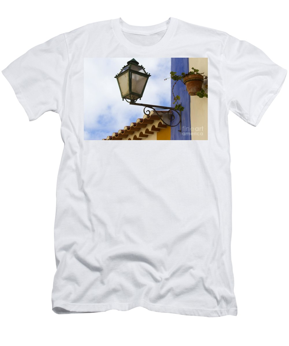 Heiko Men's T-Shirt (Athletic Fit) featuring the photograph Streetlight Horizontal by Heiko Koehrer-Wagner