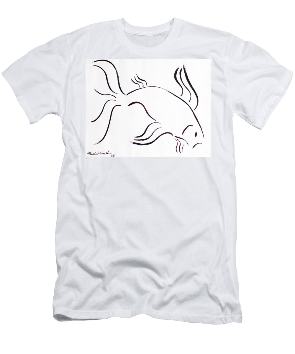 Abstract Men's T-Shirt (Athletic Fit) featuring the drawing Strength by Micah Guenther