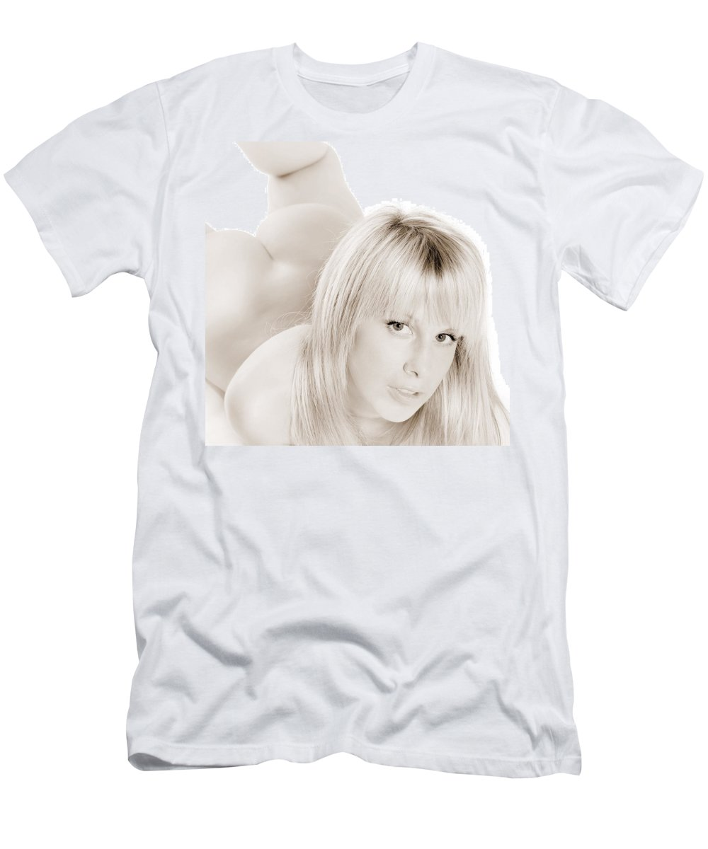 Woman Men's T-Shirt (Athletic Fit) featuring the photograph Stunning Beauty by Jochen Schoenfeld