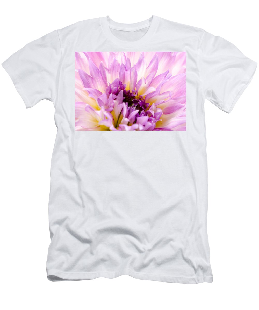 Dahlia Men's T-Shirt (Athletic Fit) featuring the photograph Summer Dahlia by Georgette Grossman