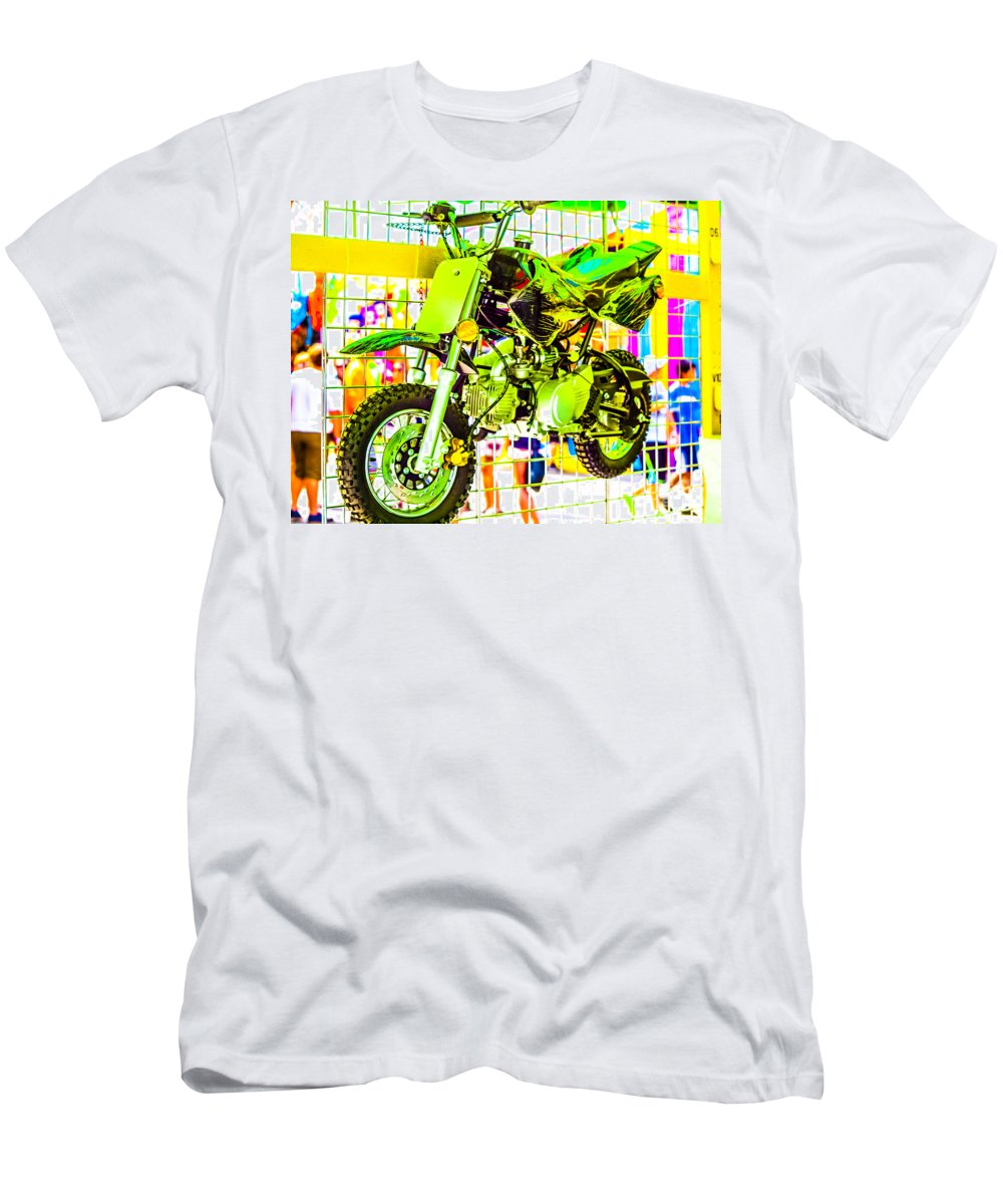 Mini Motor Cycle Men's T-Shirt (Athletic Fit) featuring the photograph Summer Fair-16 by David Fabian