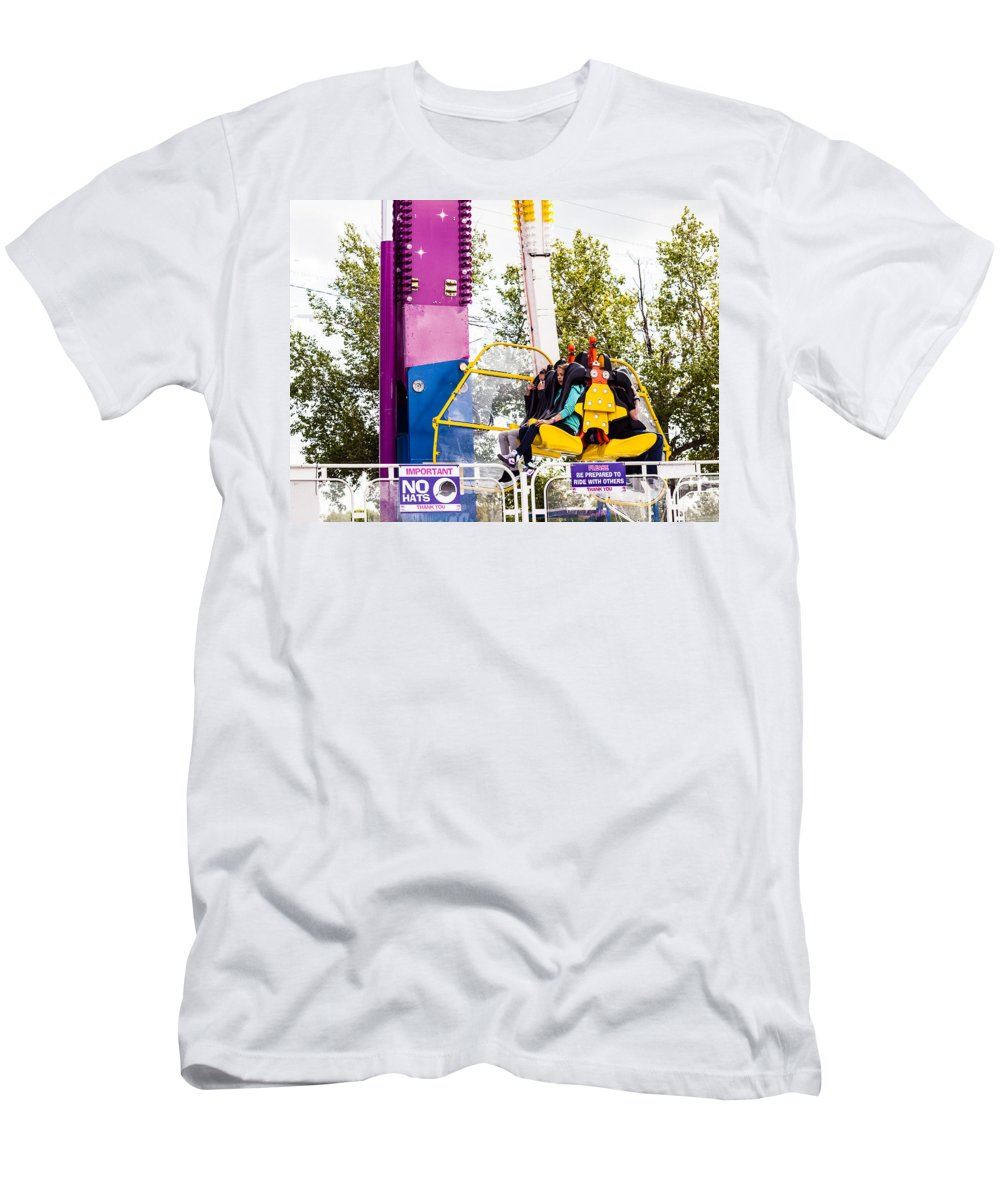 Spinner Men's T-Shirt (Athletic Fit) featuring the photograph Summer Fair-23 by David Fabian