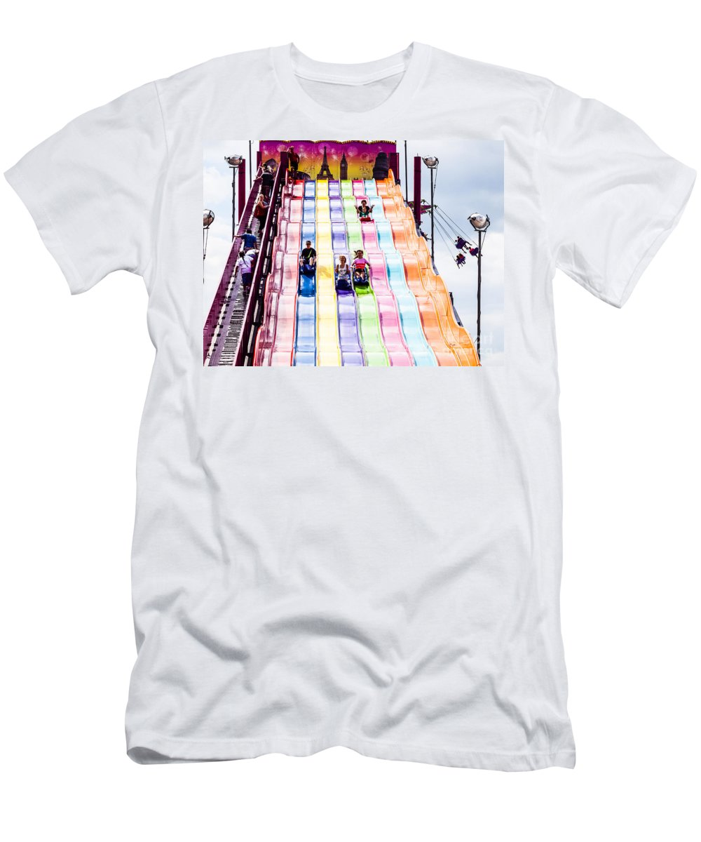 Slide Men's T-Shirt (Athletic Fit) featuring the photograph Summer Fair-26 by David Fabian