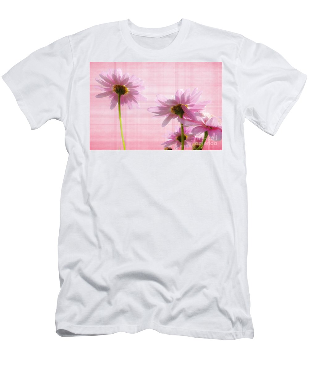Peek-swint Men's T-Shirt (Athletic Fit) featuring the photograph Summer Pinks by Susie Peek