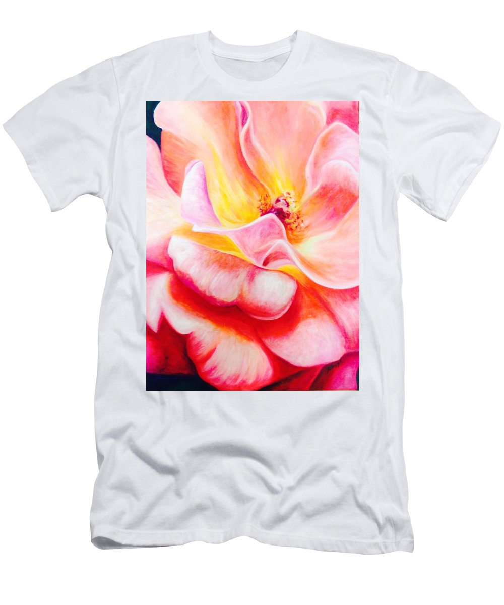 Painting Men's T-Shirt (Athletic Fit) featuring the painting Summer Romance by Katherine Boiczyk