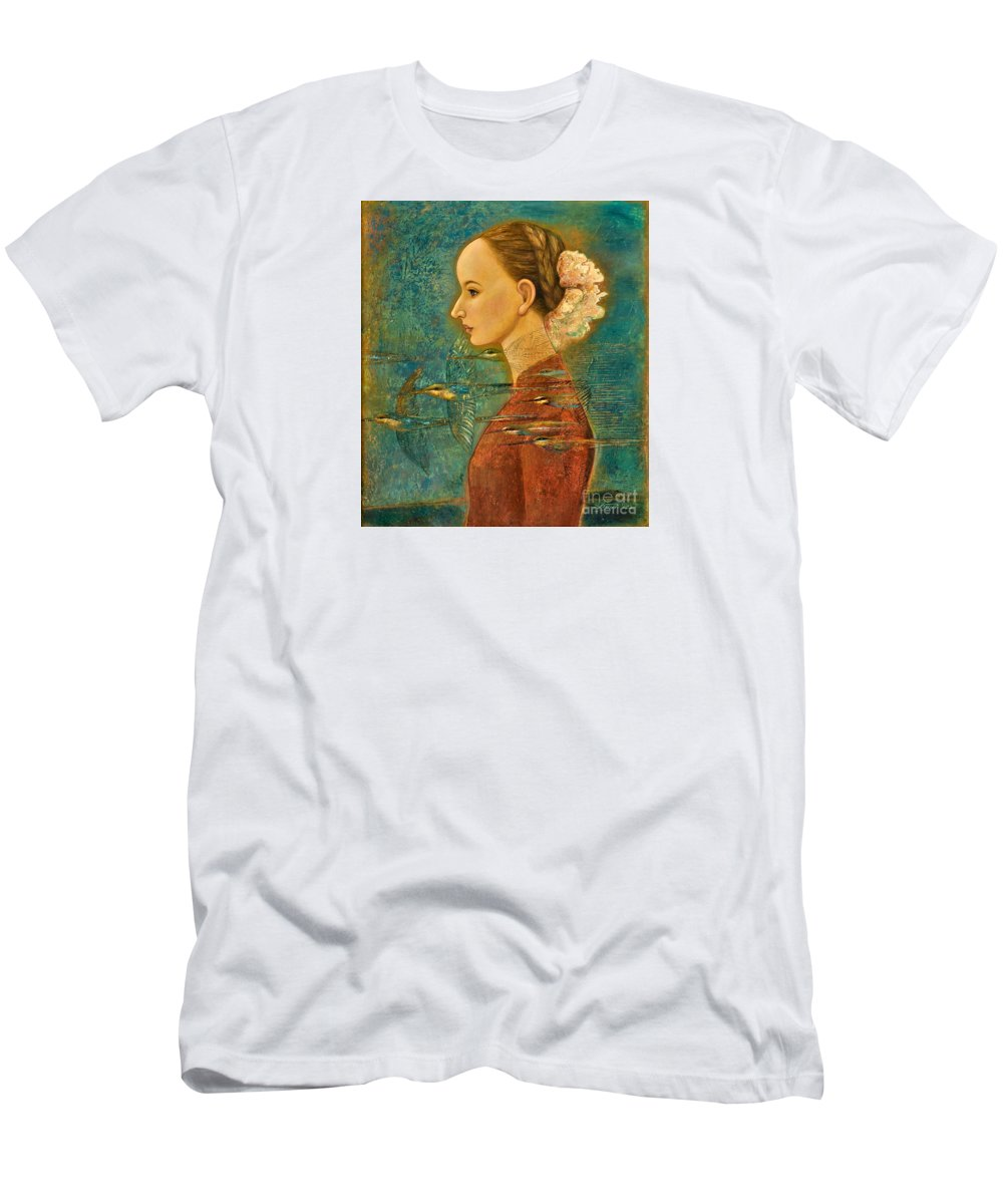 Figurative Men's T-Shirt (Athletic Fit) featuring the painting Summer Song by Shijun Munns