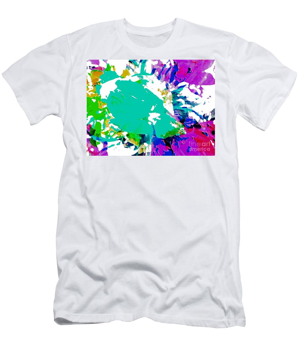 Abstract Men's T-Shirt (Athletic Fit) featuring the photograph Summer Splash by Barbara Moignard