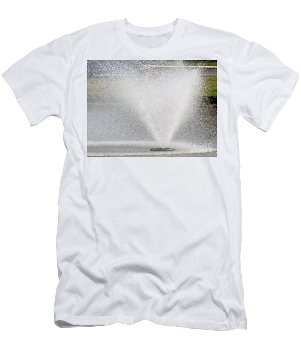Spout Men's T-Shirt (Athletic Fit) featuring the photograph Summer Spray by Don Baker