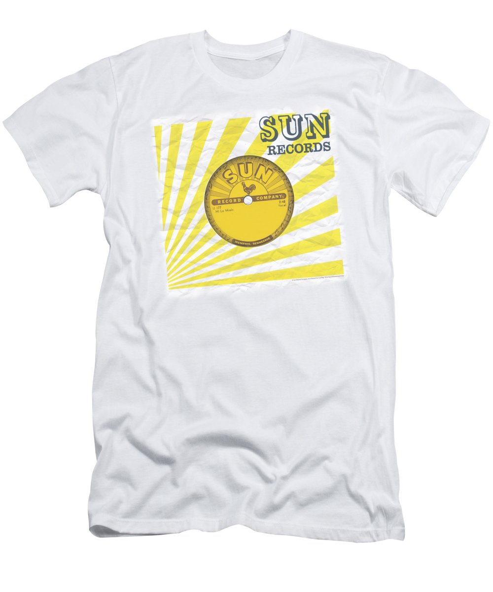 Sun Record Company T-Shirt featuring the digital art Sun - Fourty Five by Brand A