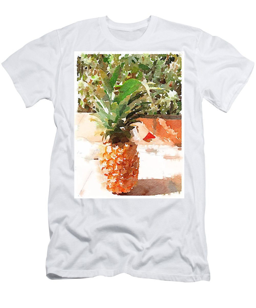 Pineapple T-Shirt featuring the digital art Sunday Brunch by Shannon Grissom