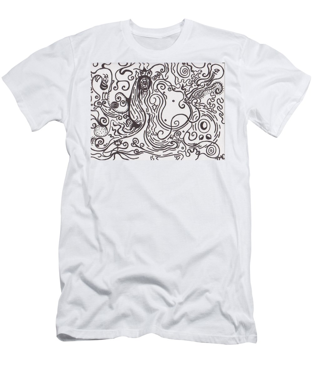 Abstract Men's T-Shirt (Athletic Fit) featuring the painting Surreal by Jill Christensen