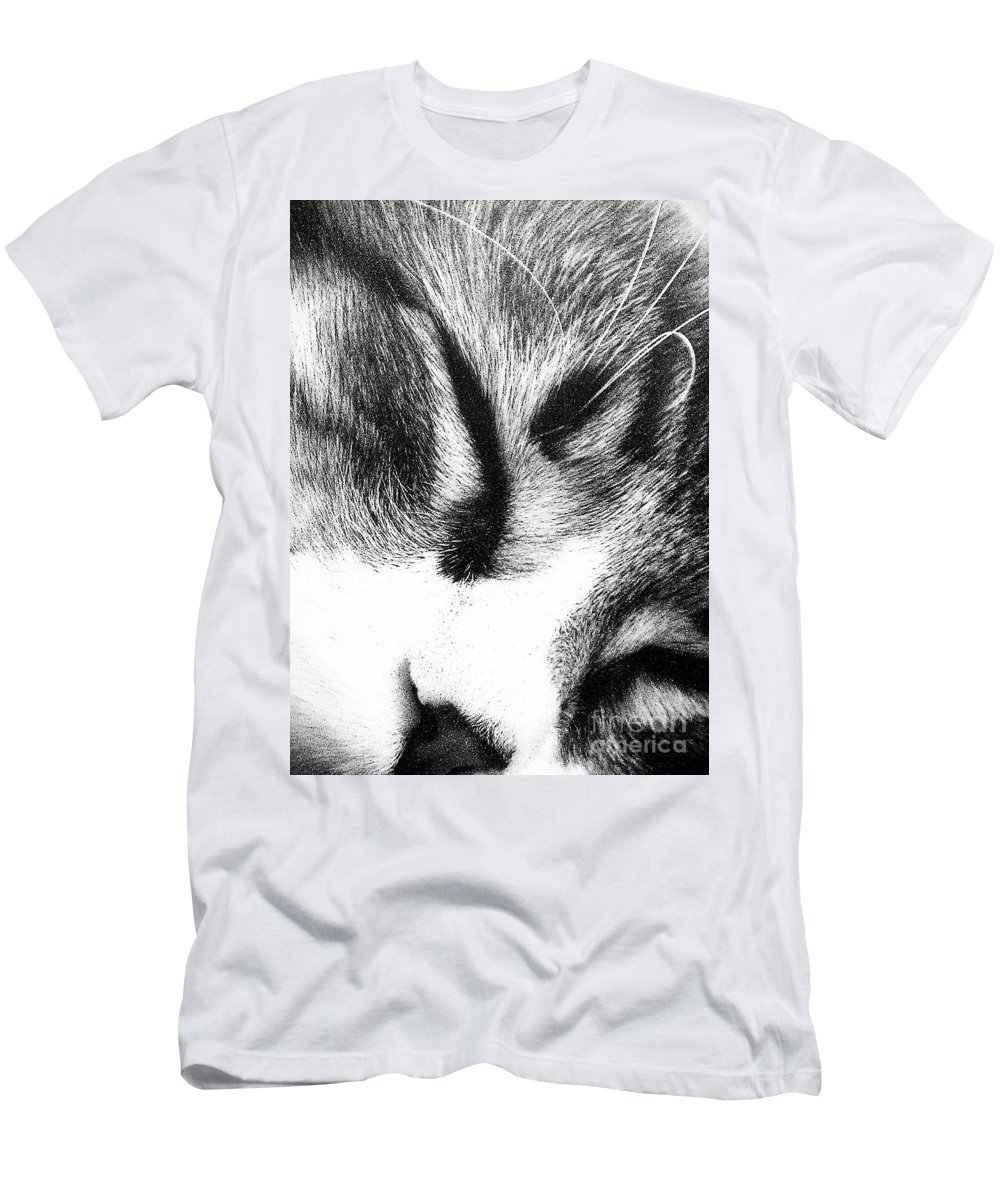 Maine Coon Men's T-Shirt (Athletic Fit) featuring the photograph Sweet Dreams by Jacqueline McReynolds