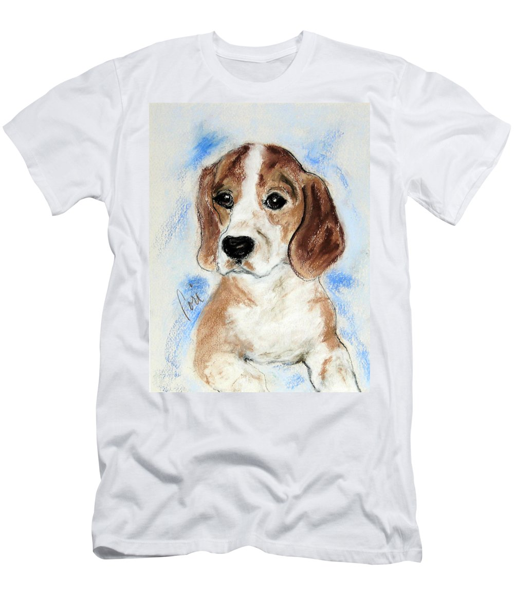 Dog Men's T-Shirt (Athletic Fit) featuring the drawing Sweet Innocence by Cori Solomon
