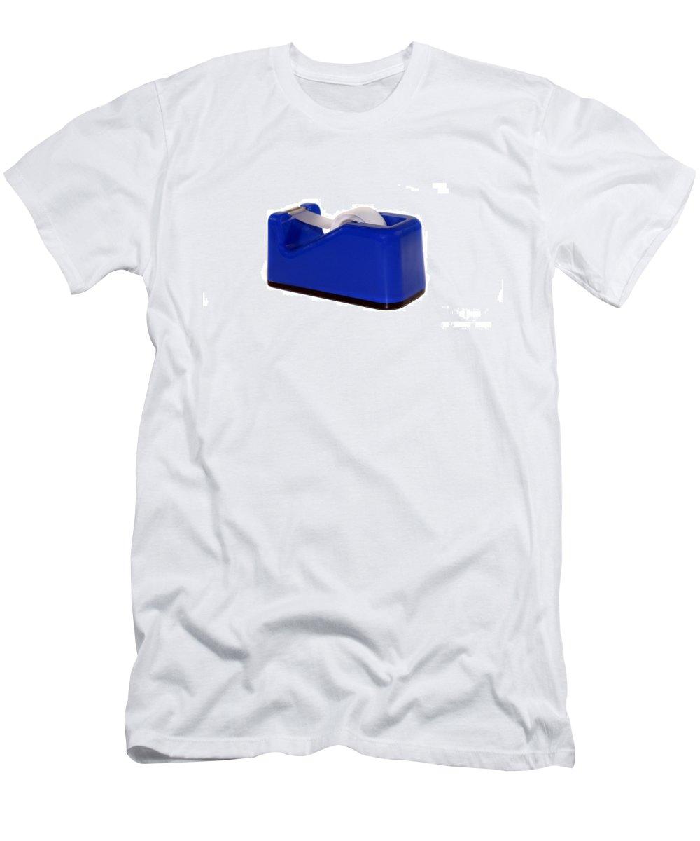 Roll Men's T-Shirt (Athletic Fit) featuring the photograph Tape Dispenser by Henrik Lehnerer