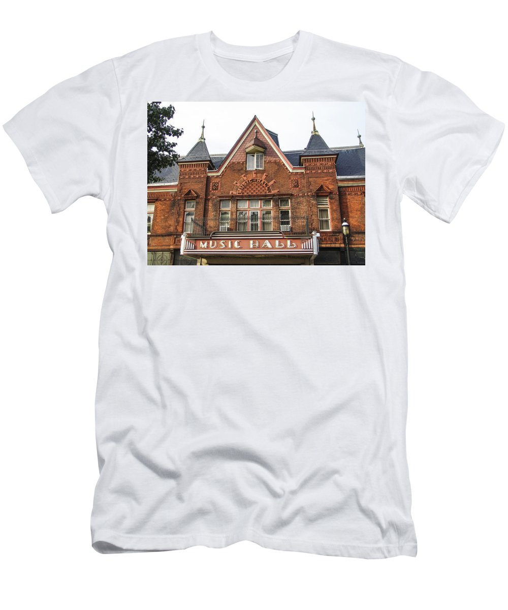 Tarrytown Men's T-Shirt (Athletic Fit) featuring the photograph Tarrytown Music Hall by Eric Swan