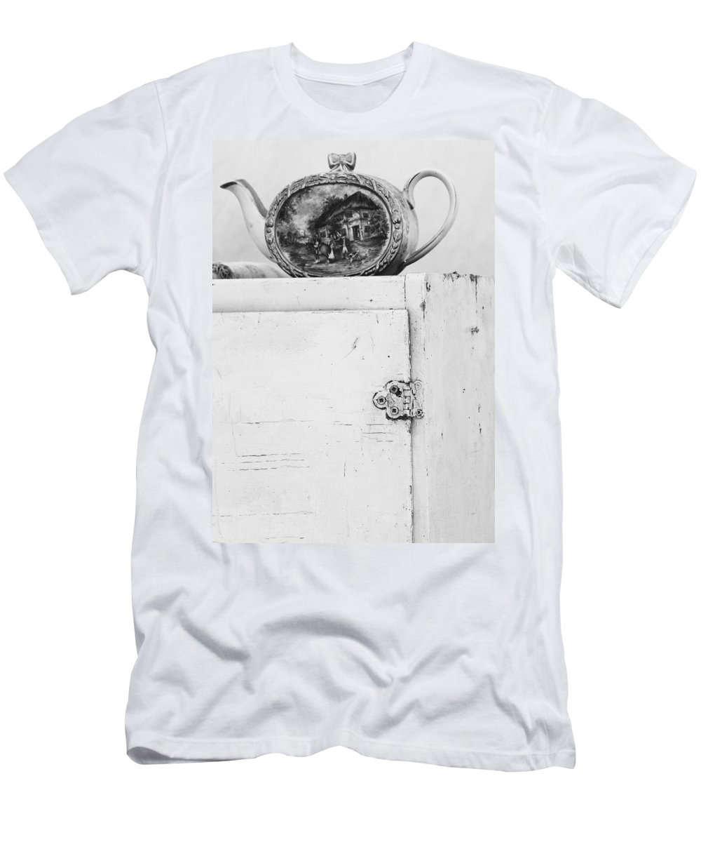 Teapot Men's T-Shirt (Athletic Fit) featuring the photograph Tea With Grandma by The Artist Project
