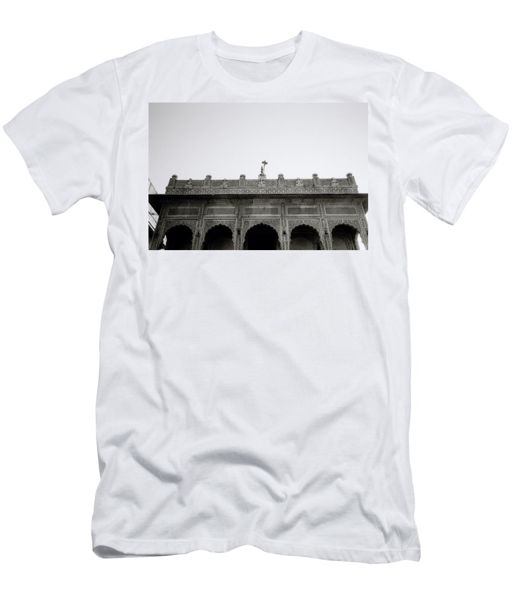 Religion Men's T-Shirt (Athletic Fit) featuring the photograph Temple Elegance by Shaun Higson