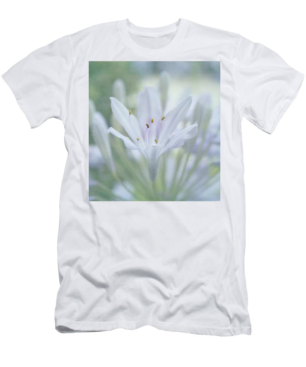 Flower Men's T-Shirt (Athletic Fit) featuring the photograph Tenderly by Kim Hojnacki