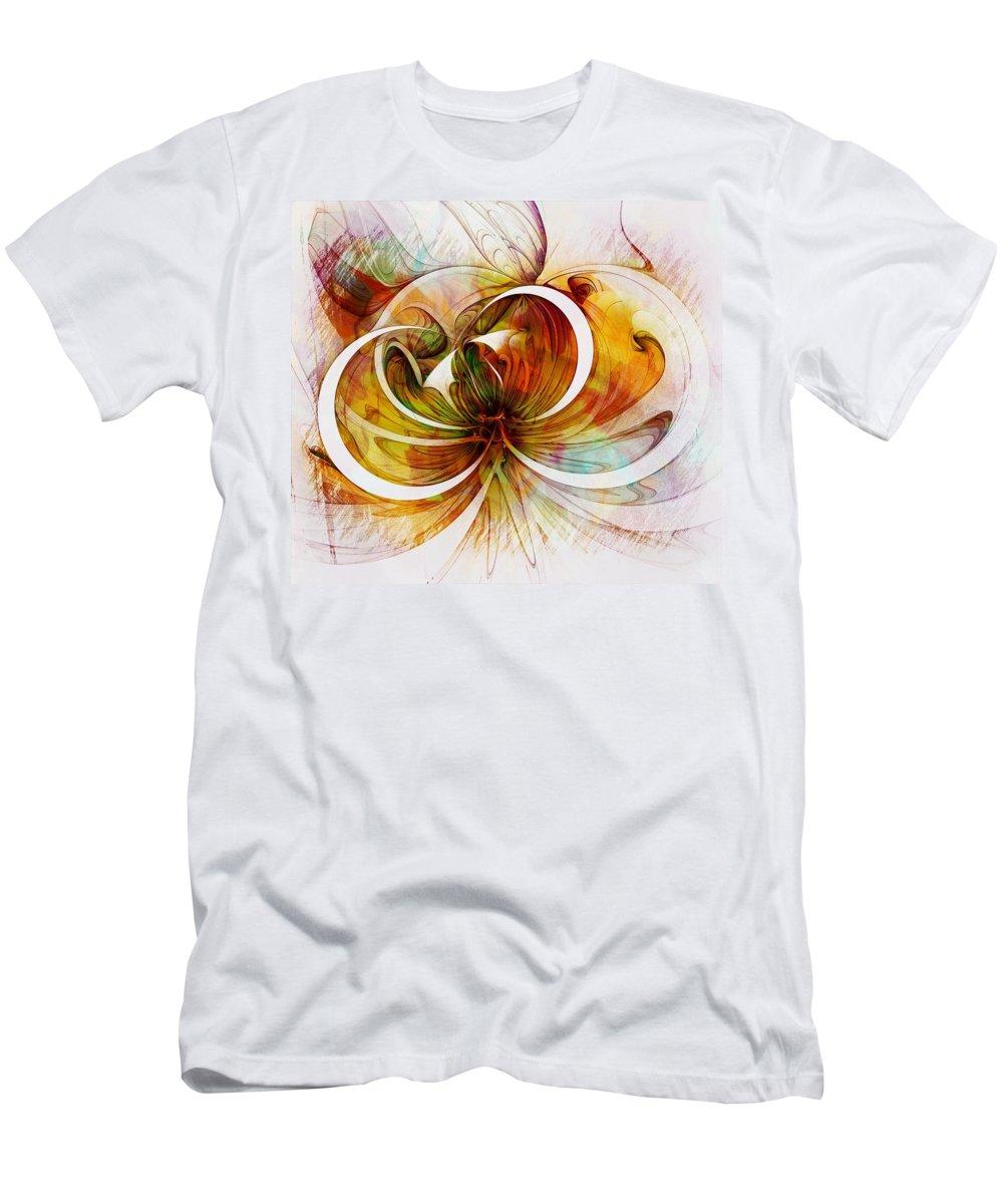 Digital Art Men's T-Shirt (Athletic Fit) featuring the digital art Tendrils 14 by Amanda Moore