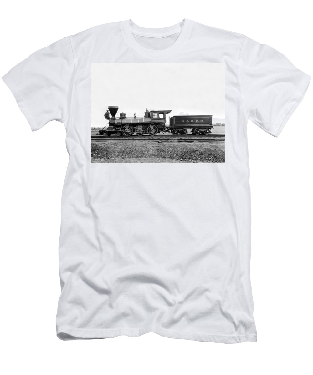 1860's Men's T-Shirt (Athletic Fit) featuring the photograph Thatcher Perkins Locomotive by Underwood Archives