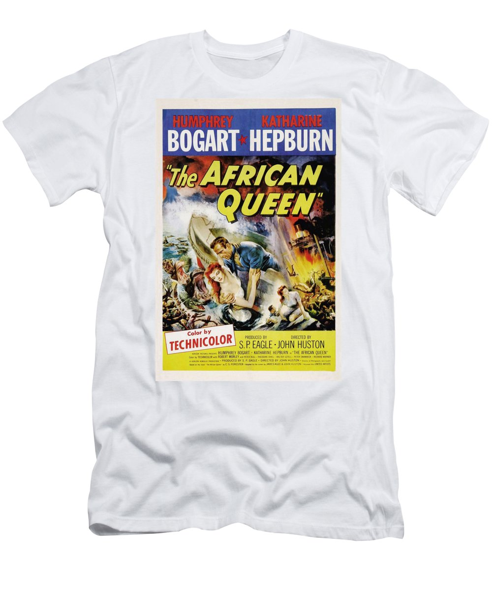 African Queen Men's T-Shirt (Athletic Fit) featuring the photograph The African Queen by Movie Poster Prints