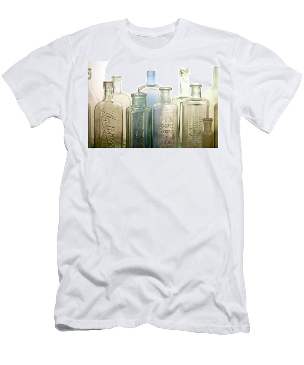 Bottle T-Shirt featuring the photograph The Ages Reflected in Glass by Holly Kempe