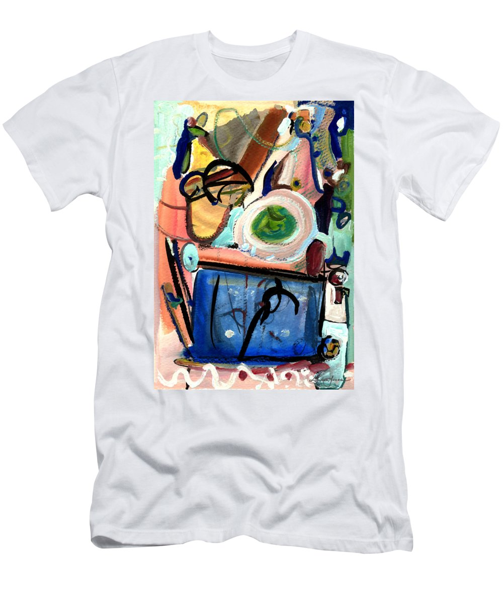 Abstract Art Men's T-Shirt (Athletic Fit) featuring the painting The Aquarium by Stephen Lucas