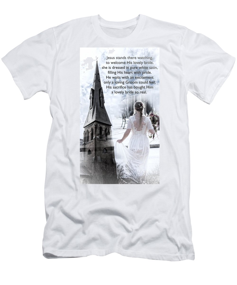 Bride Men's T-Shirt (Athletic Fit) featuring the photograph The Bride Of Christ by Kathy Clark