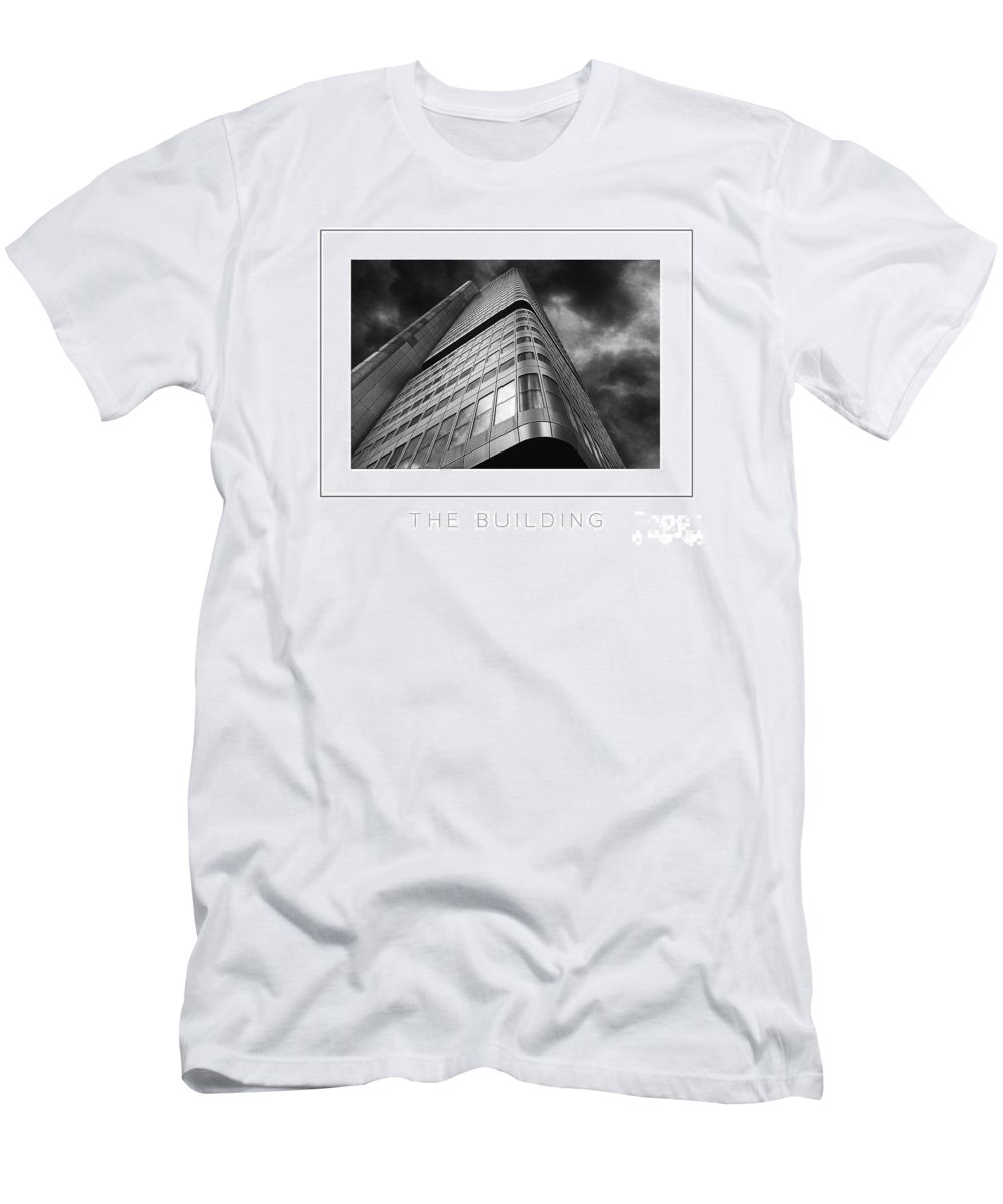 Building Men's T-Shirt (Athletic Fit) featuring the photograph The Building Poster by Mike Nellums