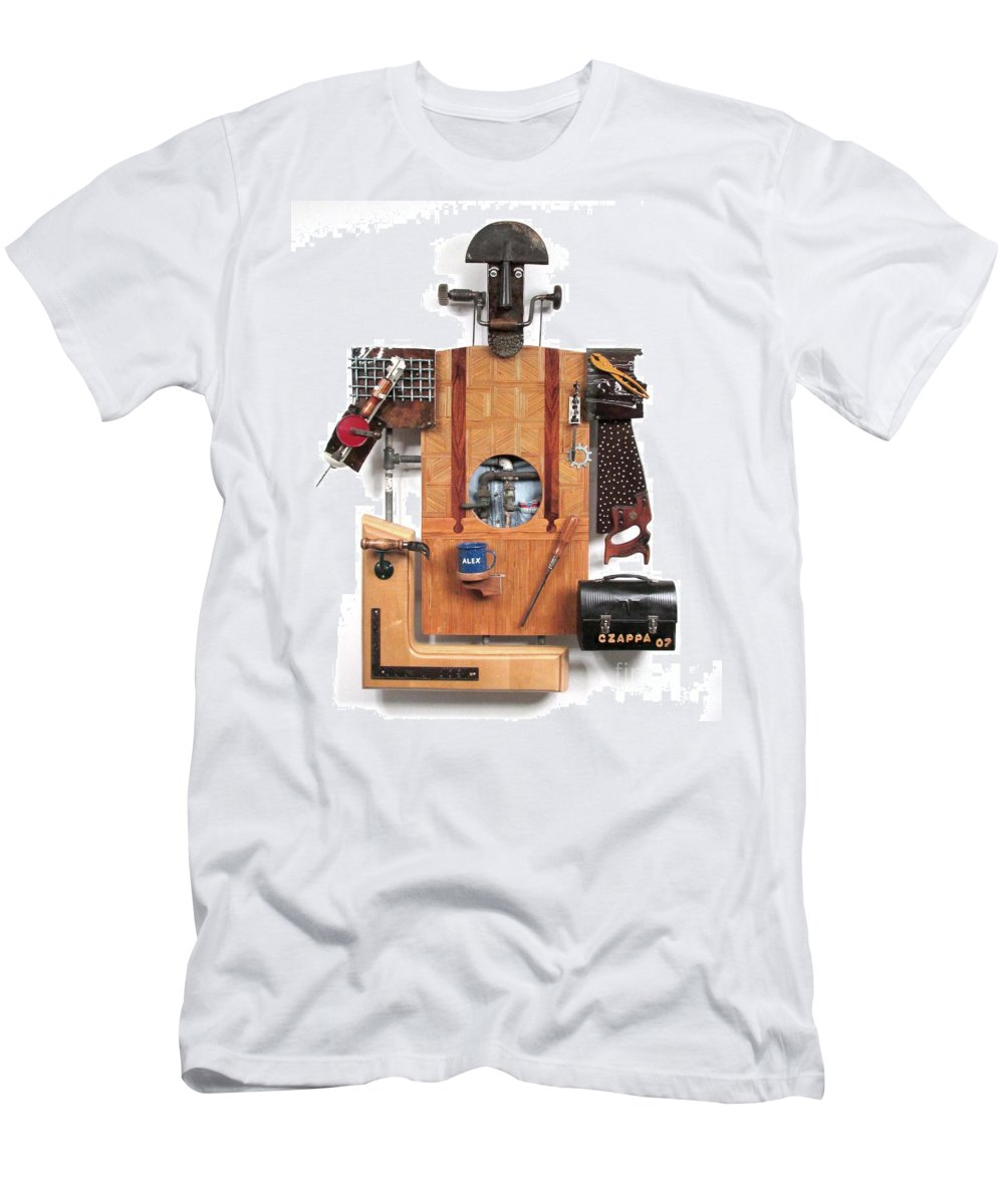 Czappa Men's T-Shirt (Athletic Fit) featuring the sculpture The Carpenter  #16 by Bill Czappa