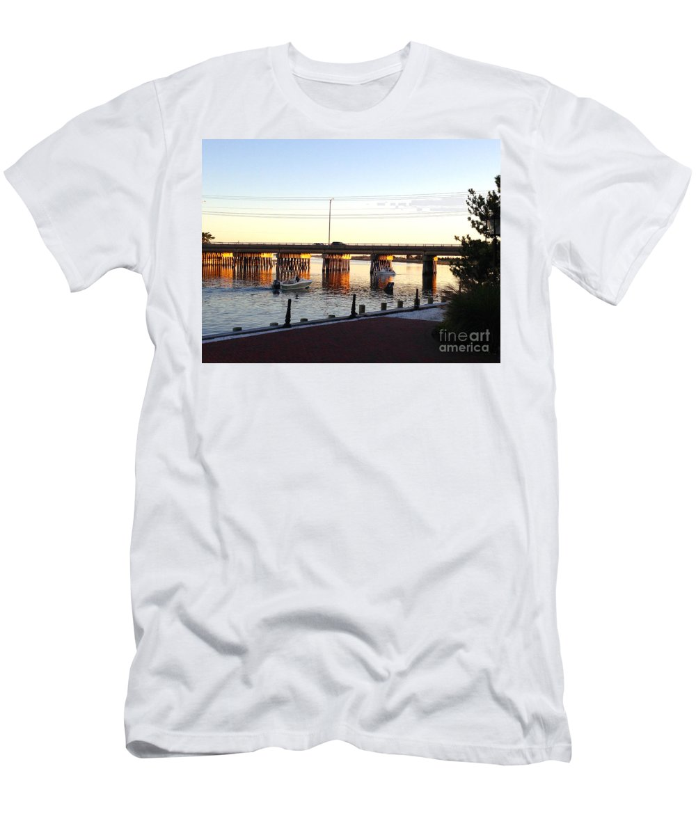 Causeway Men's T-Shirt (Athletic Fit) featuring the photograph The Causeway by Christy Gendalia