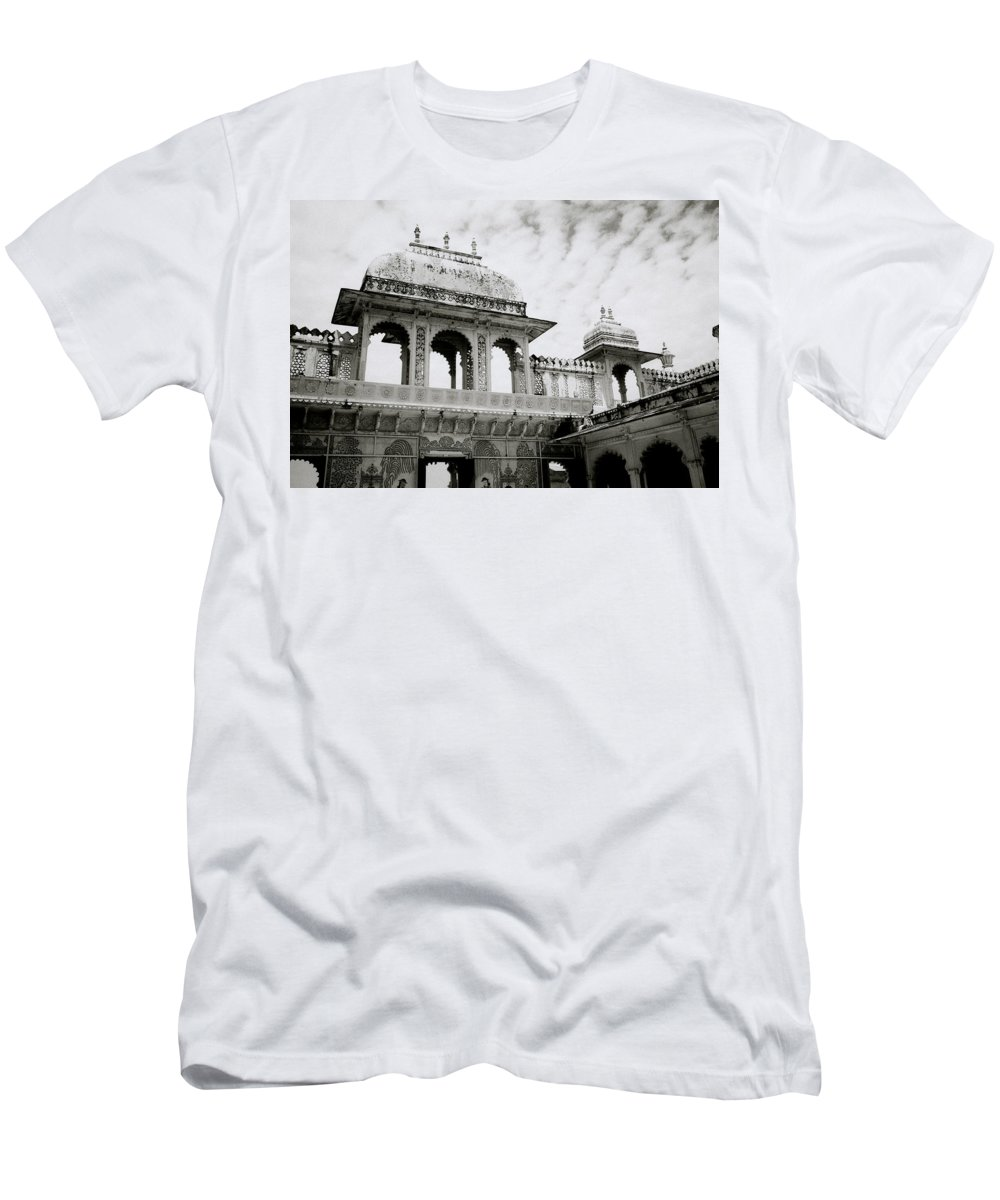 Udaipur Men's T-Shirt (Athletic Fit) featuring the photograph The City Palace Udaipur by Shaun Higson