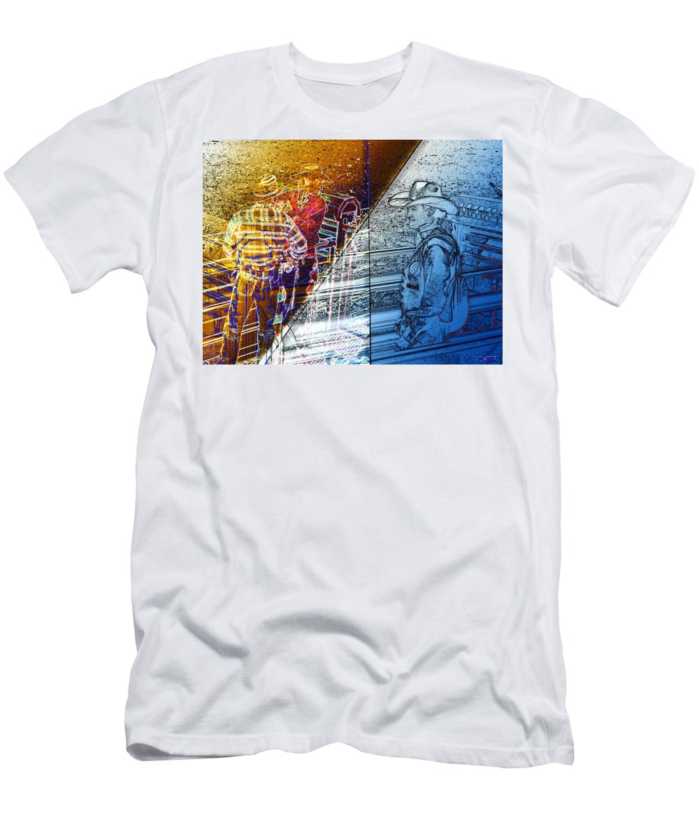 Men's T-Shirt (Athletic Fit) featuring the photograph The Competitors by David Pantuso
