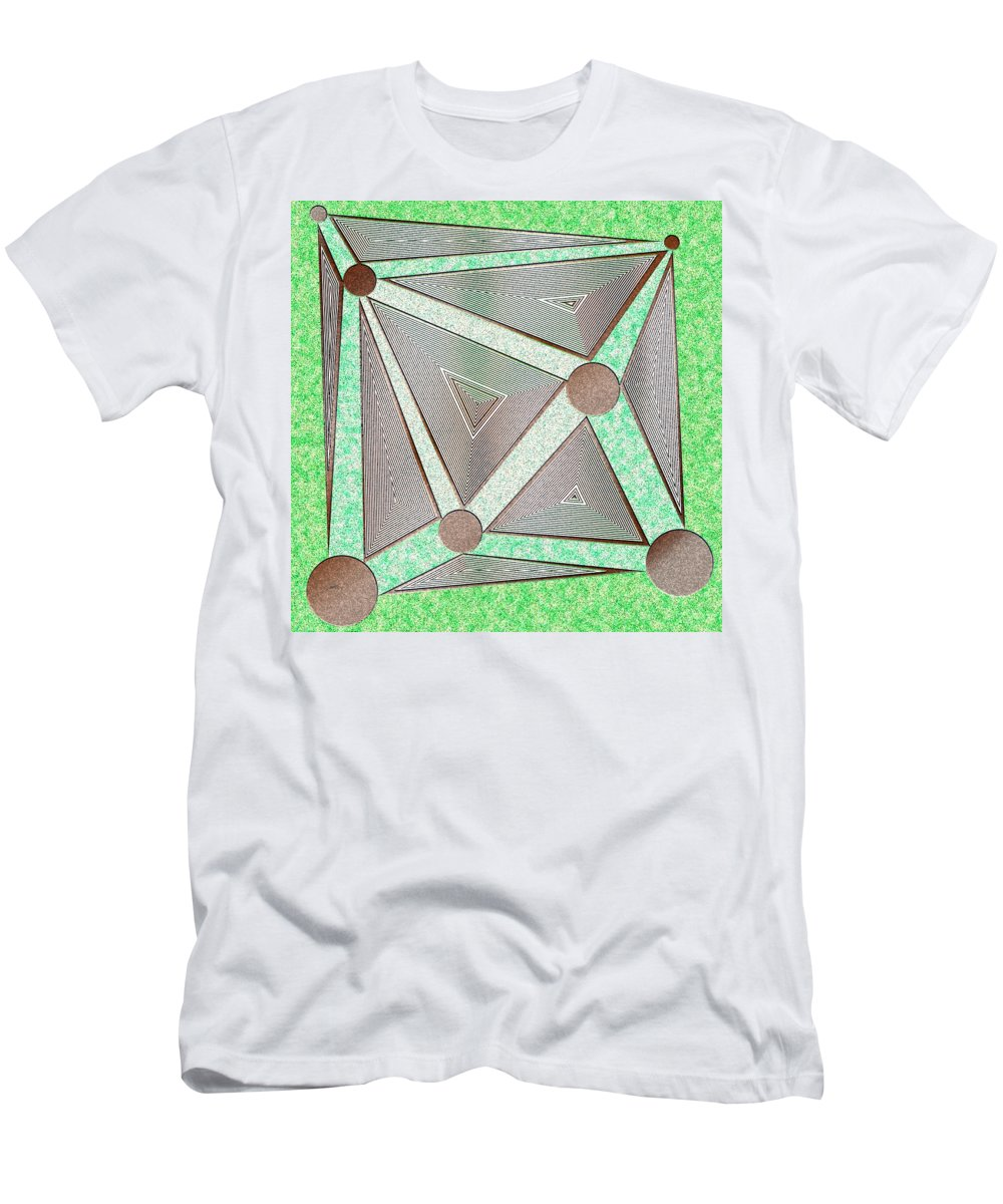 Virtual Shattered Glass Men's T-Shirt (Athletic Fit) featuring the painting The Gamble by Douglas Christian Larsen