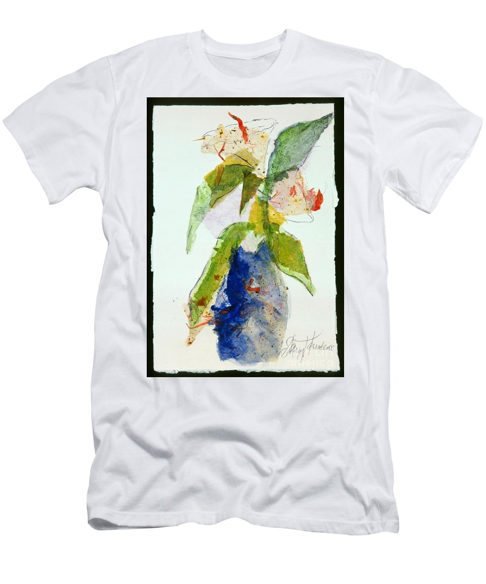 Abstract Men's T-Shirt (Athletic Fit) featuring the painting The Gift by Sherry Harradence