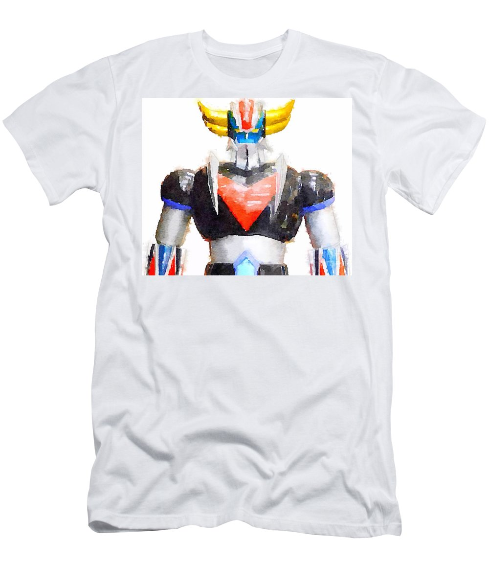 Goldorak Men's T-Shirt (Athletic Fit) featuring the painting The Goldorak by Helge