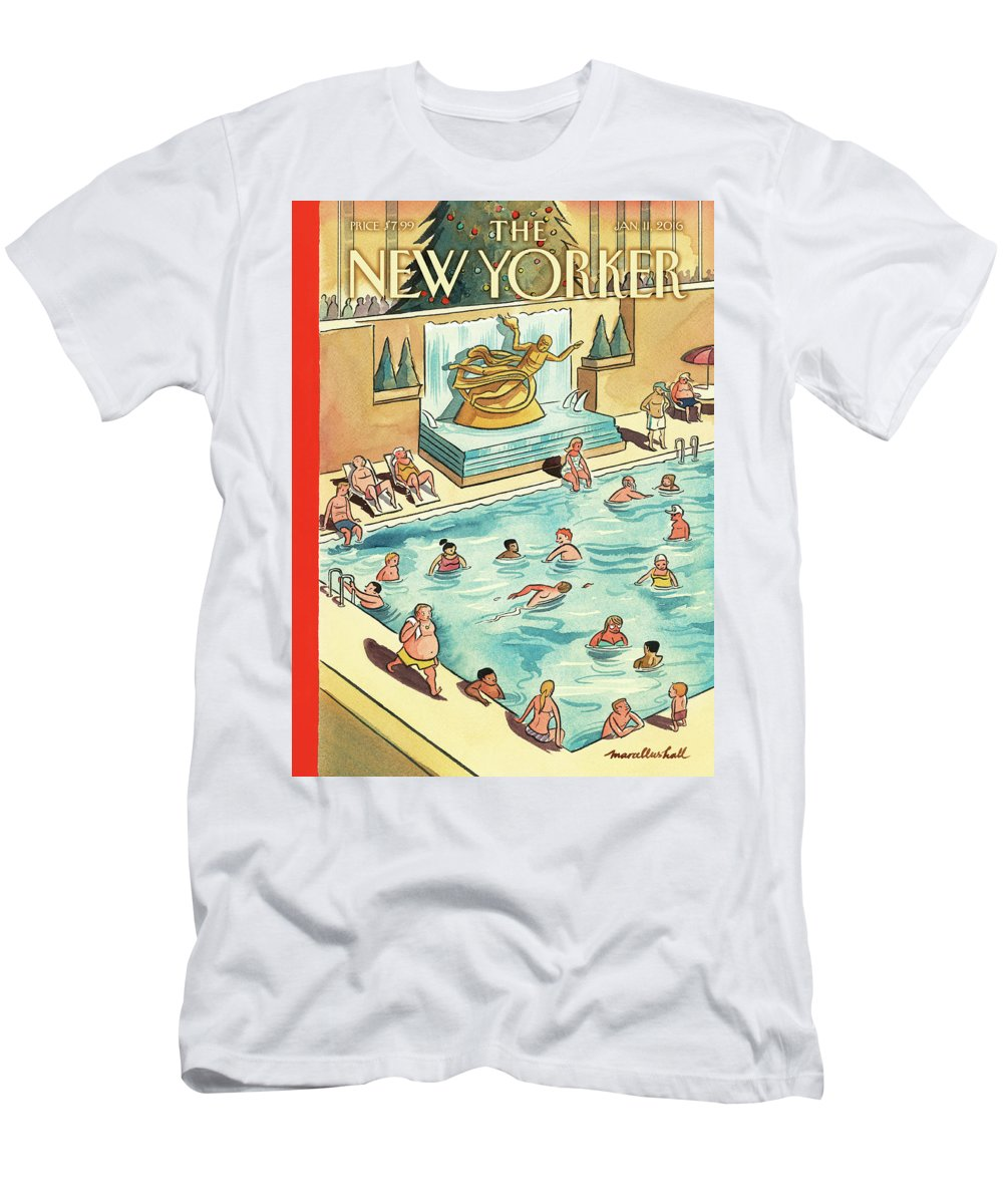 The Great Thaw T-Shirt featuring the painting The Great Thaw by Marcellus Hall