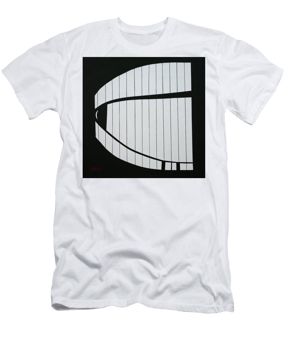 Jack Diamond Men's T-Shirt (Athletic Fit) featuring the painting The Guggenheim Experience by Jack Diamond
