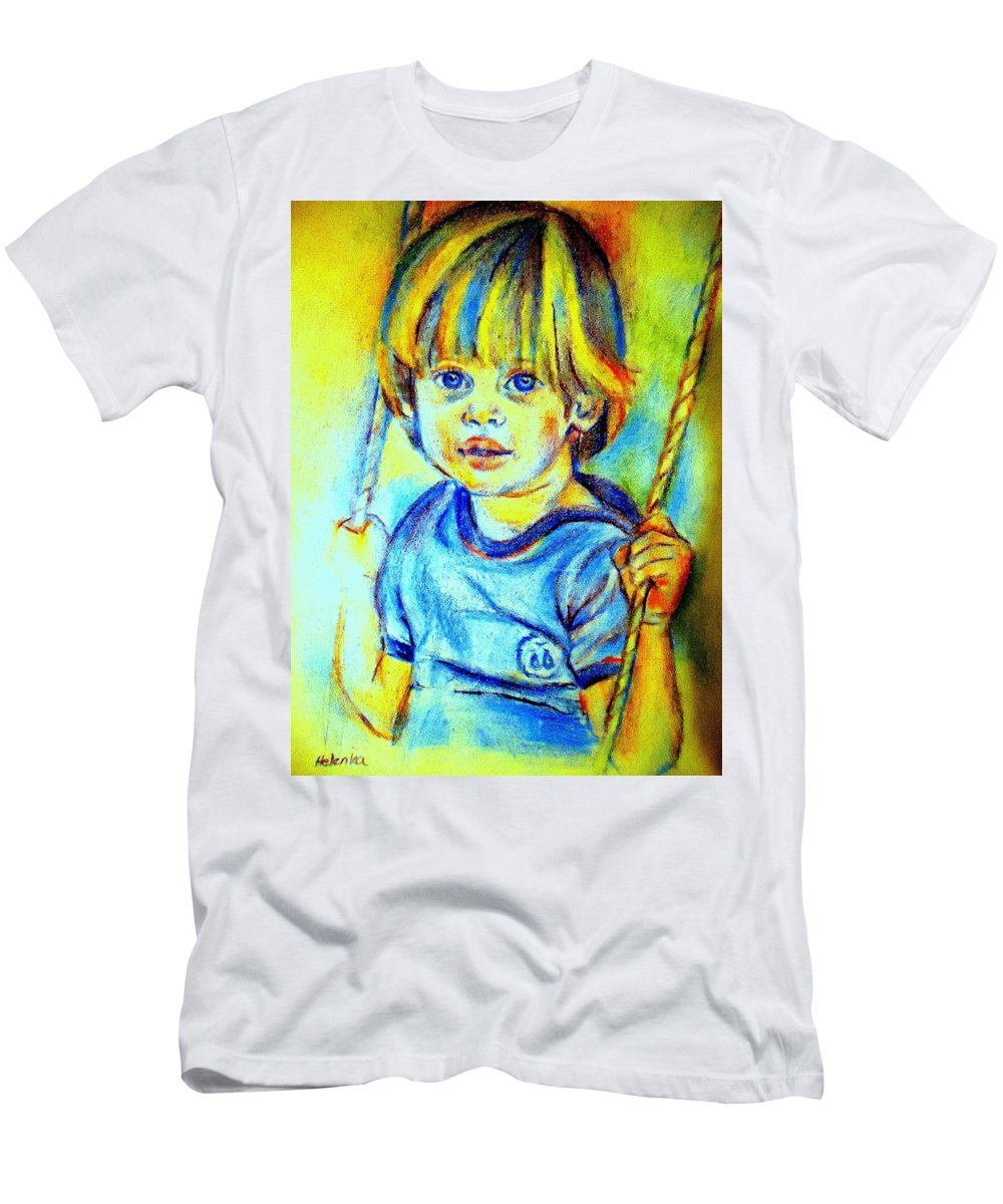 Child Men's T-Shirt (Athletic Fit) featuring the drawing The Hammock by Helena Wierzbicki