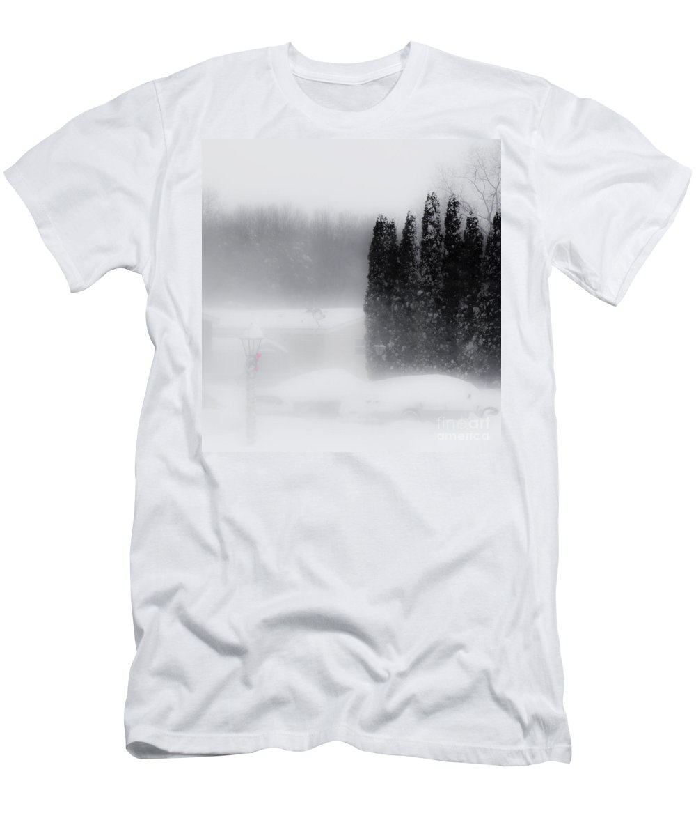Winter Men's T-Shirt (Athletic Fit) featuring the photograph The Haze Of Winter by Tara Lynn