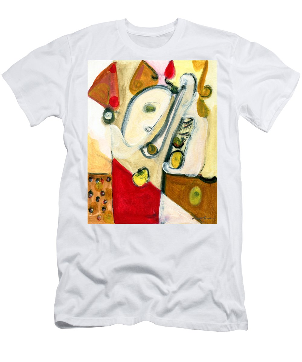 Abstract Art Men's T-Shirt (Athletic Fit) featuring the painting The Horn Player by Stephen Lucas