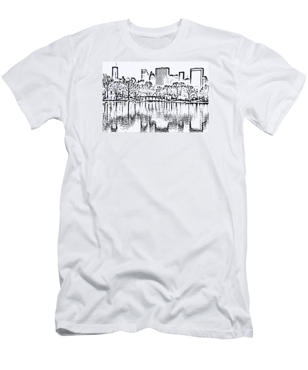 City T-Shirt featuring the photograph The Lake by Andre Aleksis