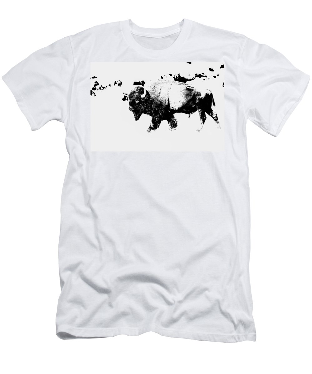 Buffalo Men's T-Shirt (Athletic Fit) featuring the photograph The Long Walk by Lynn Sprowl