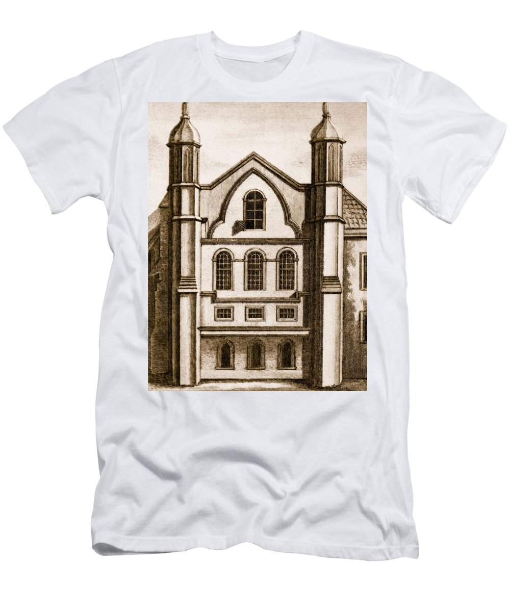 C17th Men's T-Shirt (Athletic Fit) featuring the drawing The Old House Of Commons by English School