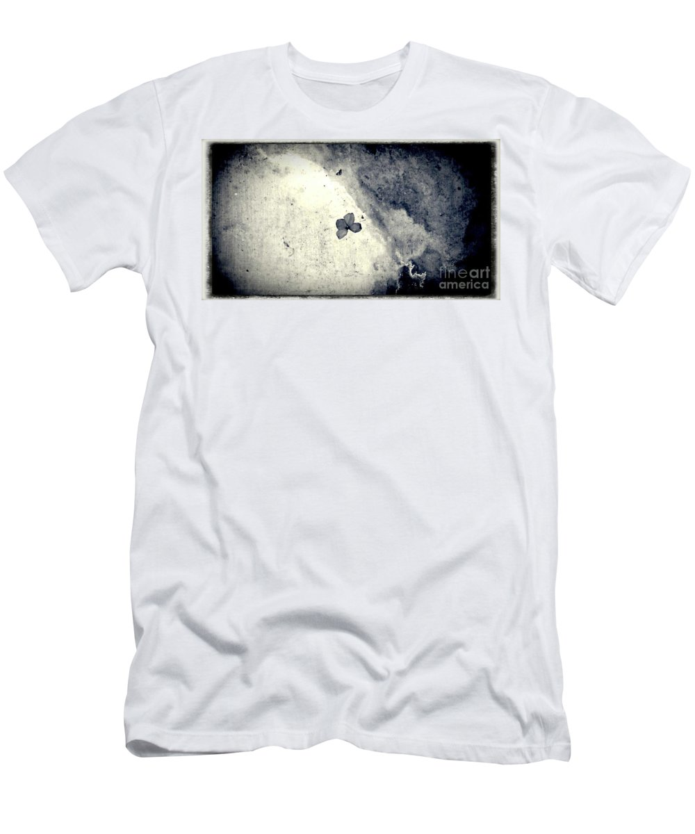 Street Snapshot Men's T-Shirt (Athletic Fit) featuring the photograph The Petal Of Butterfly by Fei A