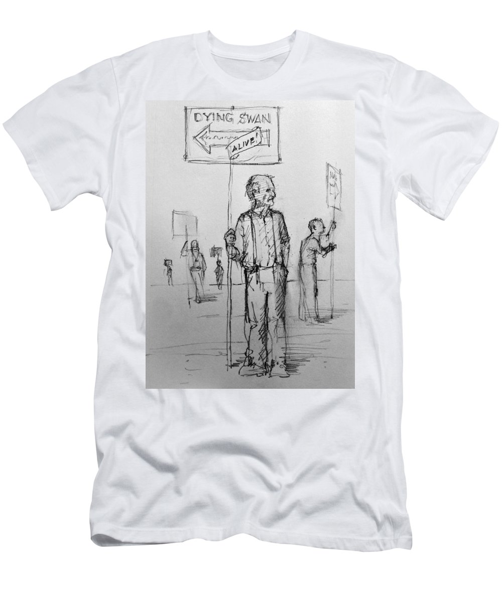 Circus Men's T-Shirt (Athletic Fit) featuring the drawing the Sign boys by H James Hoff