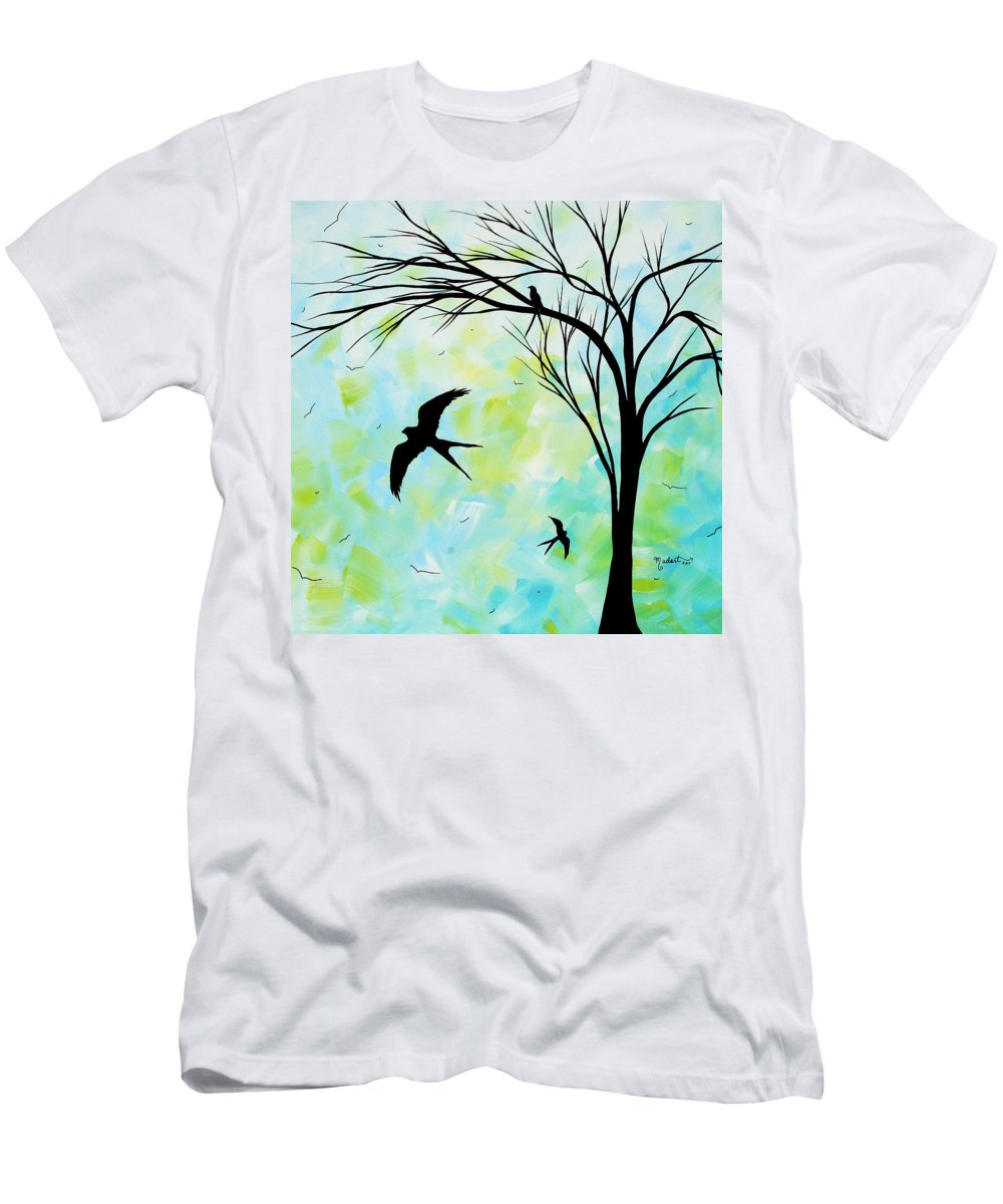 Wall Men's T-Shirt (Athletic Fit) featuring the painting The Simple Life By Madart by Megan Duncanson