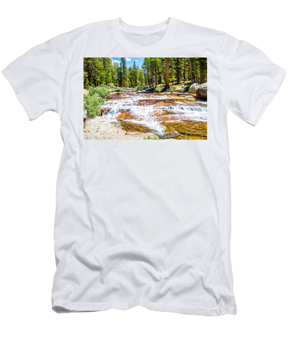 Yosemite Men's T-Shirt (Athletic Fit) featuring the photograph The Stair Stepper by Brian Williamson