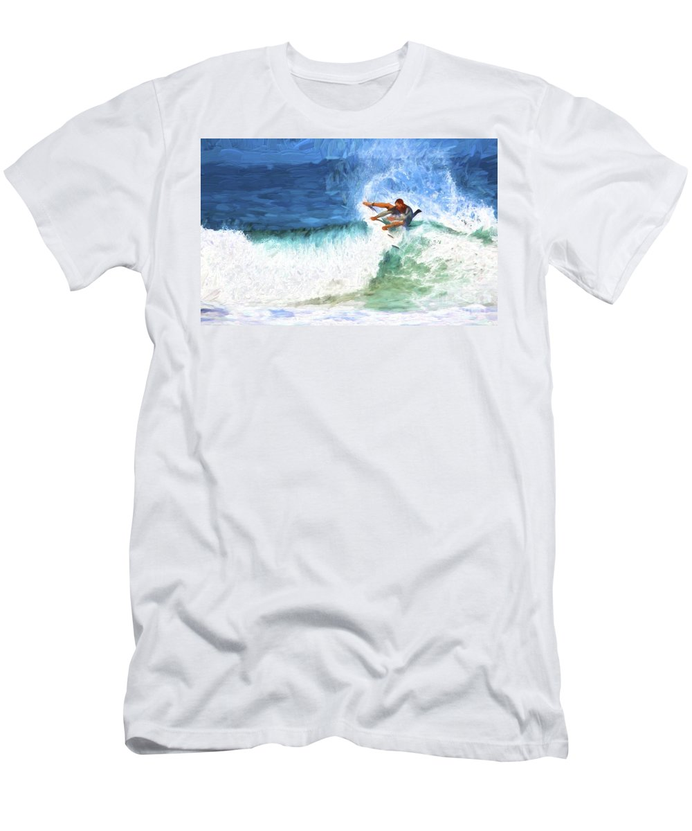 Surfer T-Shirt featuring the photograph The surfer by Sheila Smart Fine Art Photography