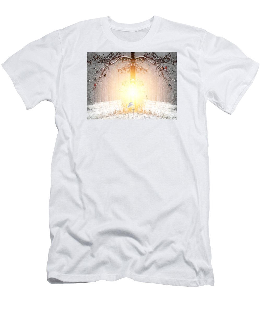 Winter Men's T-Shirt (Athletic Fit) featuring the digital art The Tree Of Life by Bill Stephens